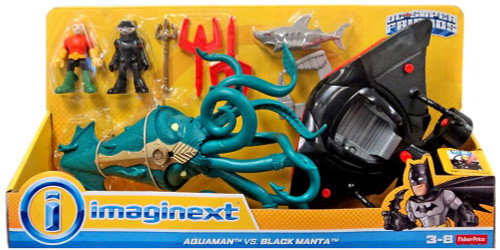 Fisher Price DC Super Friends Imaginext Aquaman vs. Black Manta 3-Inch Figure Set