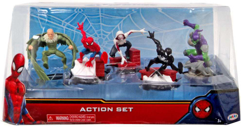 Marvel Spider-Man Homecoming Spider-Man Action Set 2-Inch 5-Piece PVC Figure Play Set
