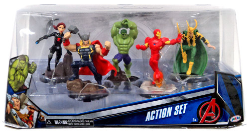 Marvel Avengers Action Set 5-Piece PVC Figure Play Set