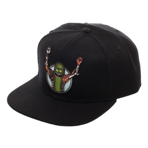 Rick & Morty Pickle Rick Black Snapback Cap