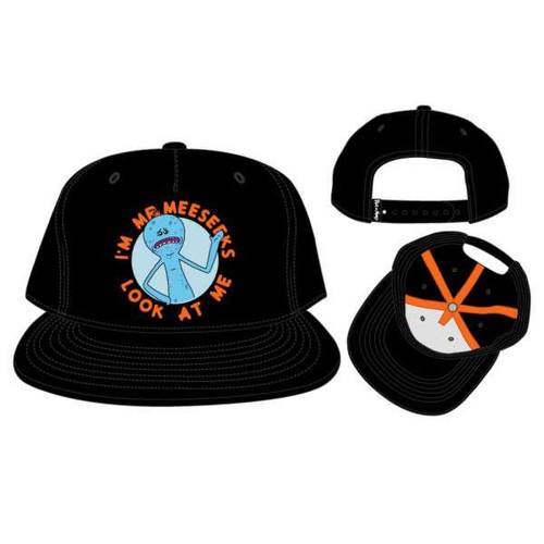 Rick & Morty Mr. Meeseeks Black Snapback Cap
