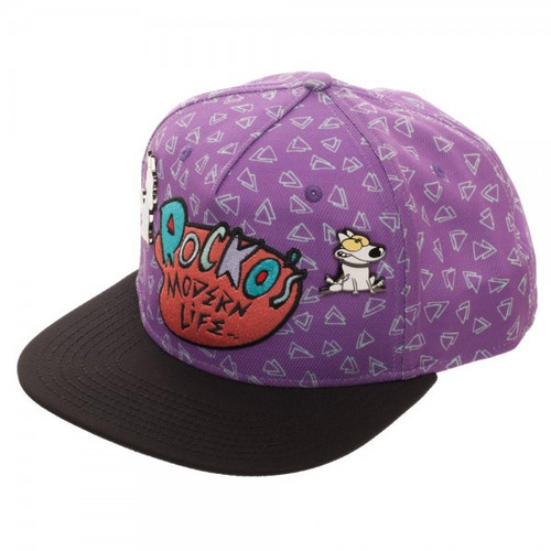 Rocko's Modern Life Sublimated Snapback Cap with Lapel Pins