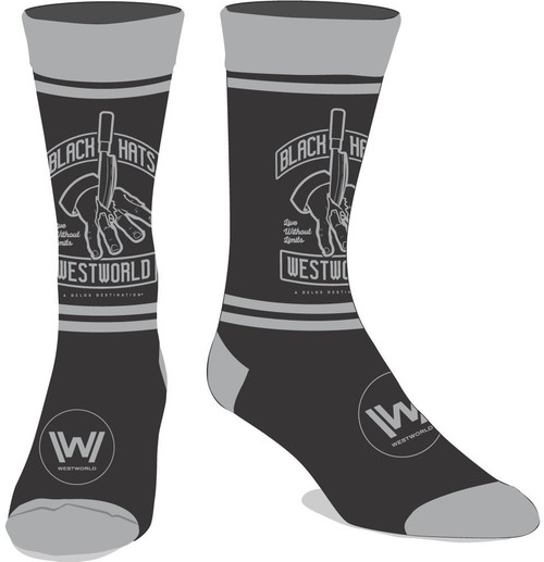 Westworld Black Hats Crew Socks