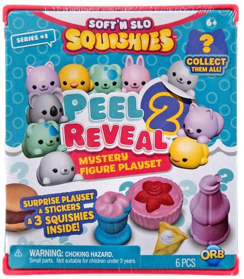 Soft'N Slow Squishies Series 1 Peel 2 Reveal Mystery Figure Playset Pack