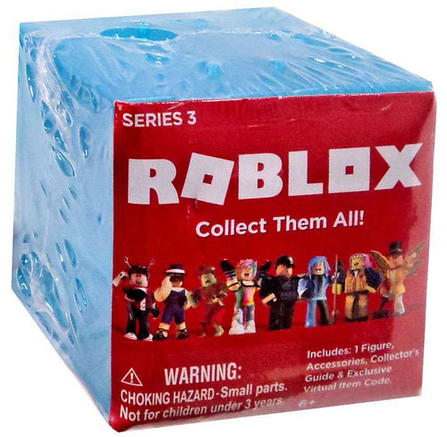 Roblox Series 3 Mystery Pack [Blue Cube, 1 RANDOM Figure & Virtual Item Code]