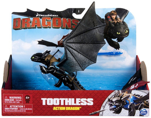 How to Train Your Dragon Dragons Action Dragon Toothless Action Figure [Blue Back]