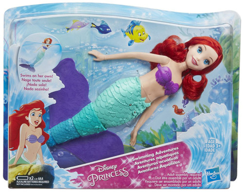 Disney Princess The Little Mermaid Swimming Adventures Ariel Bath Toy