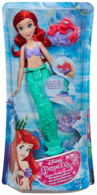 Disney Princess The Little Mermaid Color Change Reveal Ariel Bath Toy