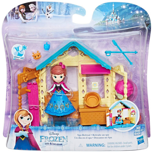Disney Frozen Little Kingdom Anna Spa Retreat Mini Doll Playset