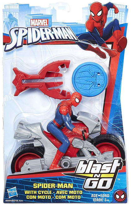 Blast N' Go Spider-Man with Cycle Vehicle & Action Figure