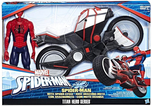 Titan Hero Series Spider-Man with Spider Cycle Action Figure