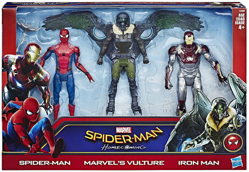 Marvel Spider-Man Homecoming Spider-Man, Vulture & Iron Man Action Figure 3-Pack