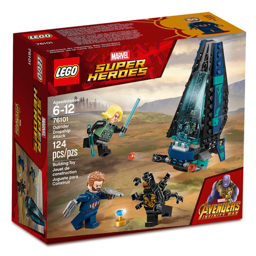 LEGO Marvel Super Heroes Avengers Infinity War The Outrider Dropship Attack Set #76101