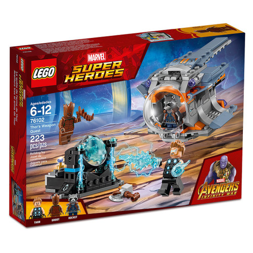 LEGO Marvel Super Heroes Avengers Infinity War Thor's Weapon Quest Set #76102