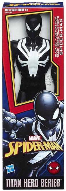 Titan Hero Series Web Warriors Black Suit Spider-Man Action Figure