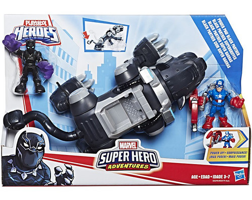 Marvel Playskool Heroes Super Hero Adventures Power Paw Black Panther Deluxe Vehicle & Action Figure