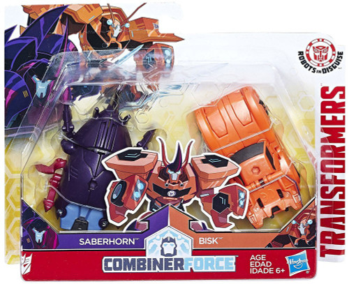 Transformers Robots in Disguise Saberhorn & Bisk Action Figure [Crash Combiner]