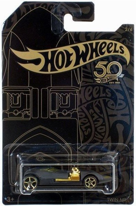 Hot Wheels 50th Anniversary Black & Gold Twin Mill Diecast Car