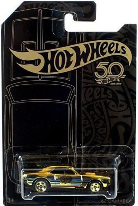 Hot Wheels 50th Anniversary Black & Gold '67 Camaro Chase Die-Cast Car [Chase, Gold]