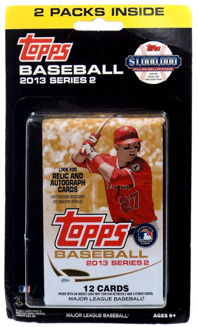 MLB Topps 2013 Series 2 Baseball Trading Card HANGER 2-Pack
