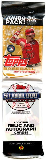 MLB Topps 2013 Series 2 Baseball Trading Card JUMBO Pack [36 Cards]