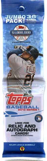 MLB Topps 2013 Series 1 Baseball Trading Card JUMBO Pack [36 Cards!]