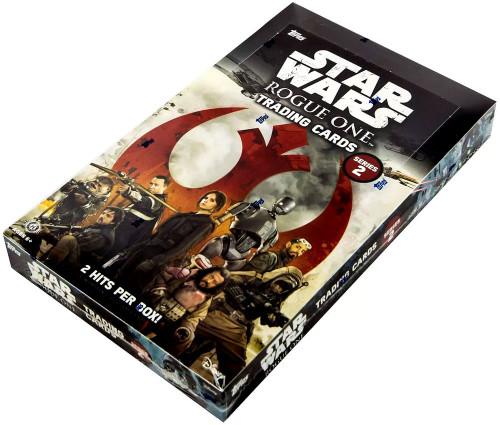 Star Wars Rogue One Series 2 Trading Card HOBBY Box [24 Packs, 2 Hits!]