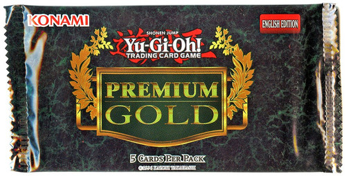 YuGiOh Trading Card Game Premium Gold Booster Pack [5 Cards]
