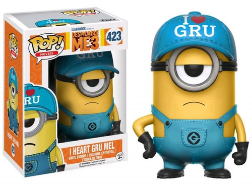 Funko Despicable Me 3 POP! Movies I Heart Gru Mel Exclusive Vinyl Figure #423 [Damaged Package]