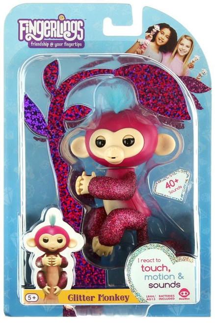 Fingerlings Glitter Monkey Razz Figure