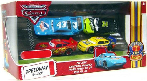 Disney / Pixar Cars The World of Cars Multi-Packs Speedway 4-Pack Exclusive Diecast Car Set [Set #1, Damaged Package]