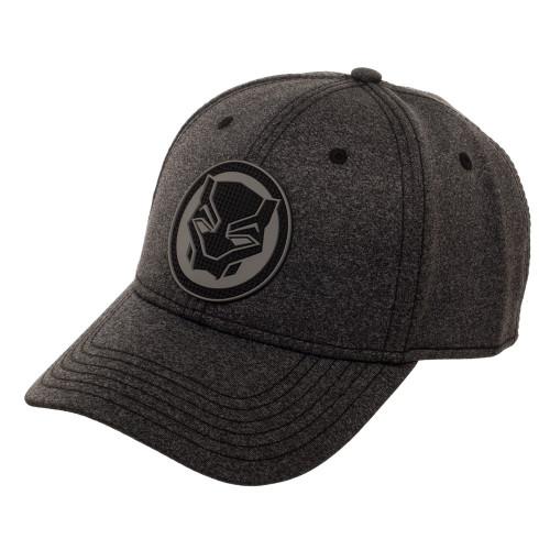 Marvel Black Panther Rubber Weld Emblem Flex Cap