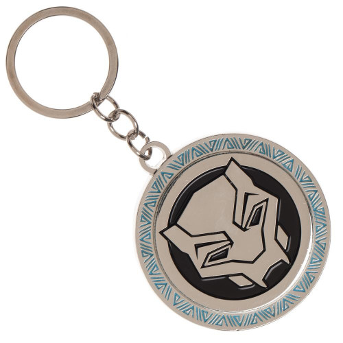 Marvel Black Panther Movie Logo Metal Keychain