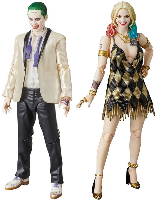 DC Suicide Squad MAFEX White Suit Joker and Dress Harley Action Figure Set [Suicide Squad]