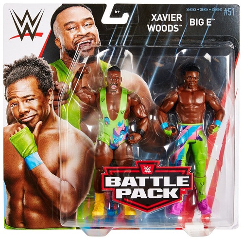 WWE Wrestling Battle Pack Series 51 Big E & Xavier Woods Action Figure 2-Pack