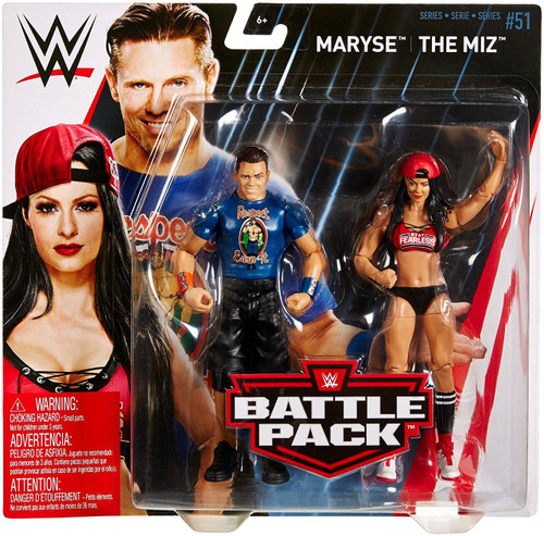 WWE Wrestling Battle Pack Series 51 The Miz & Maryse Action Figure 2-Pack