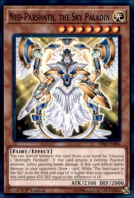 YuGiOh Wave of Light Structure Deck Common Neo-Parshath, the Sky Paladin SR05-EN004