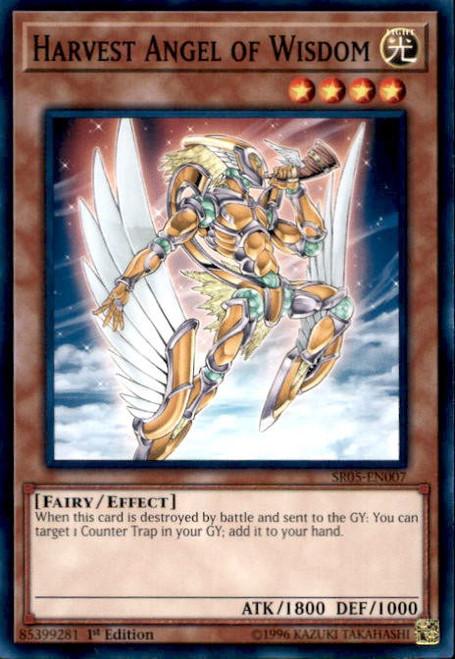 YuGiOh Wave of Light Structure Deck Common Harvest Angel of Wisdom SR05-EN007