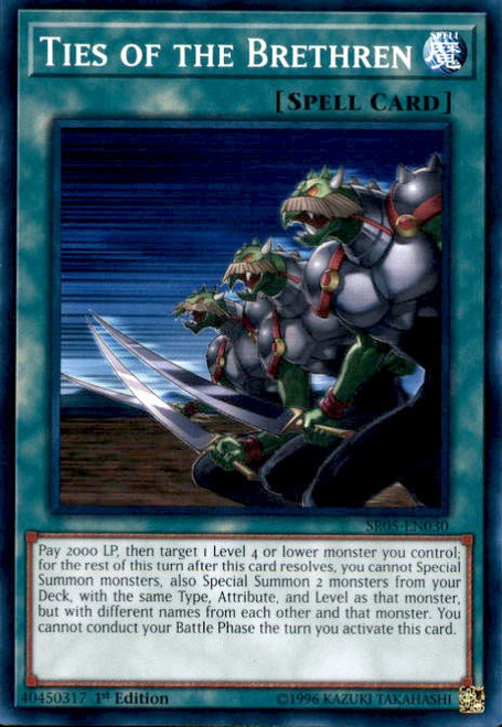 YuGiOh Wave of Light Structure Deck Common Ties of the Brethren SR05-EN030
