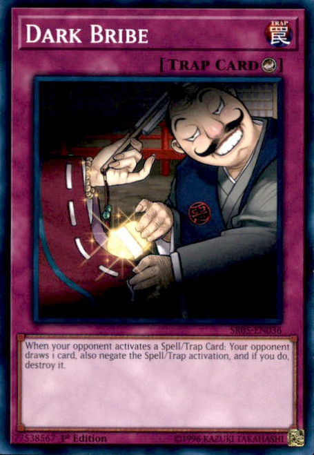 YuGiOh Wave of Light Structure Deck Common Dark Bribe SR05-EN036