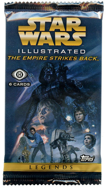 Star Wars The Empire Strikes Back 2015 Illustrated Trading Card HOBBY Pack [6 Cards]