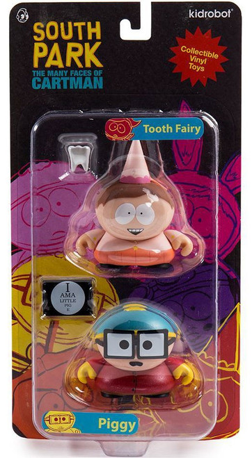 South Park The Many Faces of Cartman Toothfairy & Piggy 3-Inch Mini Figure 2-Pack