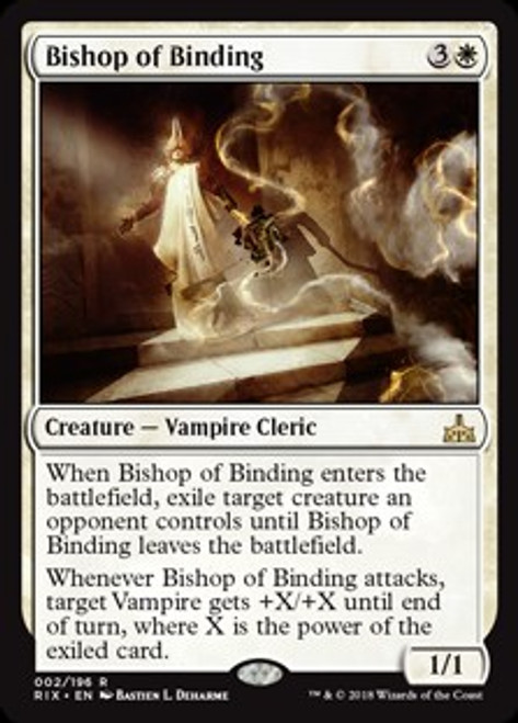 MtG Rivals of Ixalan Rare Foil Bishop of Binding #2
