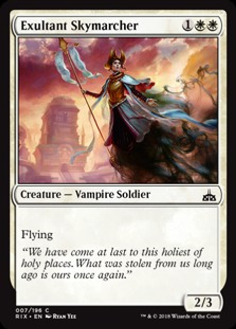 MtG Rivals of Ixalan Common Exultant Skymarcher #7