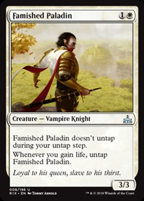MtG Rivals of Ixalan Uncommon Famished Paladin #8