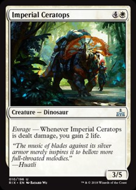 MtG Rivals of Ixalan Uncommon Imperial Ceratops #10