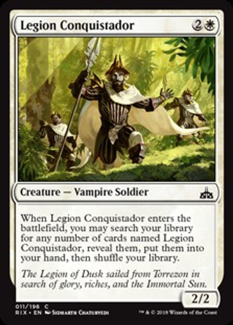 MtG Rivals of Ixalan Common Legion Conquistador #11