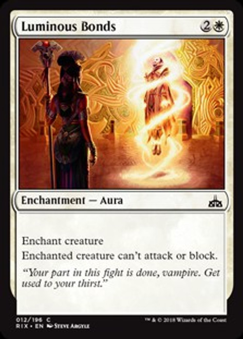 MtG Rivals of Ixalan Common Foil Luminous Bonds #12