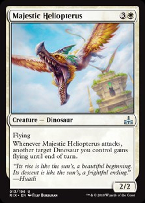 MtG Rivals of Ixalan Uncommon Majestic Heliopterus #13