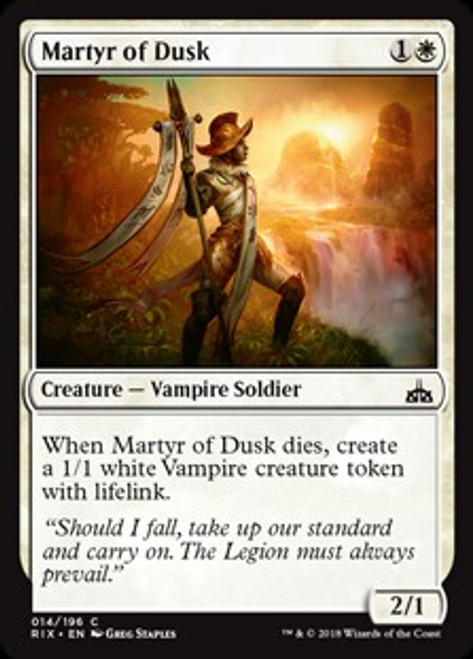 MtG Rivals of Ixalan Common Martyr of Dusk #14